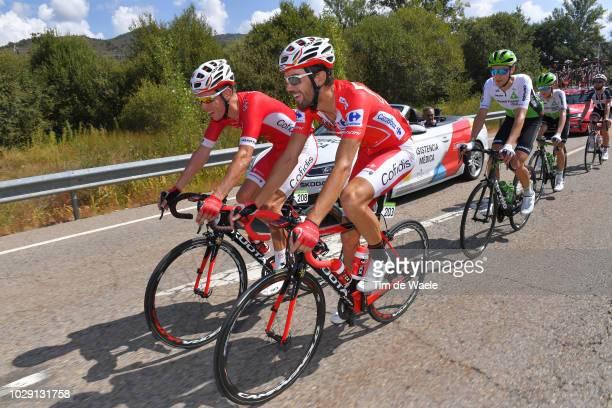 Kenneth Van Bilsen of Belgium and Team Cofidis / Jesus Herrada of Spain and Team Cofidis Red Leader Jersey / during the 73rd Tour of Spain 2018,...