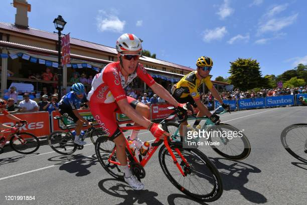 Kenneth Van Bilsen of Belgium Team Cofidis Solutions Credits / Bert Jan Lindeman of Netherlands and Team Jumbo-Visma / during the 22nd Santos Tour...