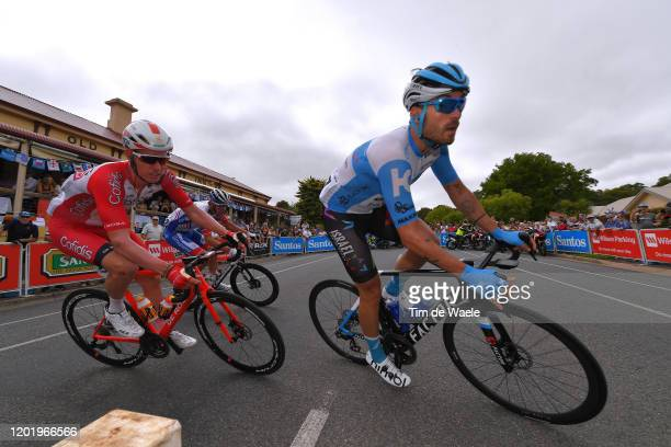 Kenneth Van Bilsen of Belgium Team Cofidis Solutions Credits / Rick Zabel of Germany and Team Israel Start-Up Nation / during the 22nd Santos Tour...