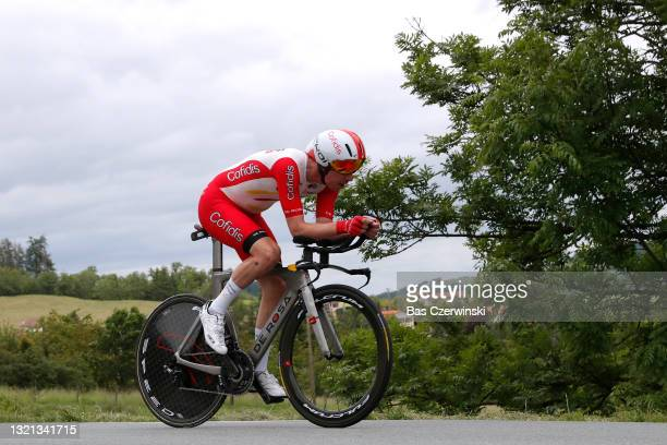 Kenneth Vanbilsen of Belgium and Team Cofidis during the 73rd Critérium du Dauphiné 2021, Stage 4 a 16,4km Individual Time Trial stage from Firminy...