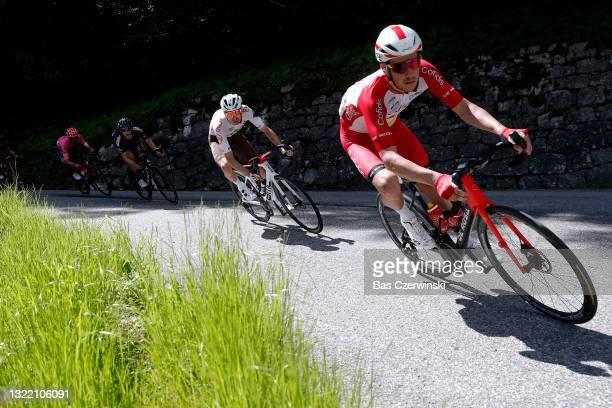 Kenneth Vanbilsen of Belgium and Team Cofidis during the 73rd Critérium du Dauphiné 2021, Stage 8 a 147km stage from La Léchère-Les-Bains to Les Gets...