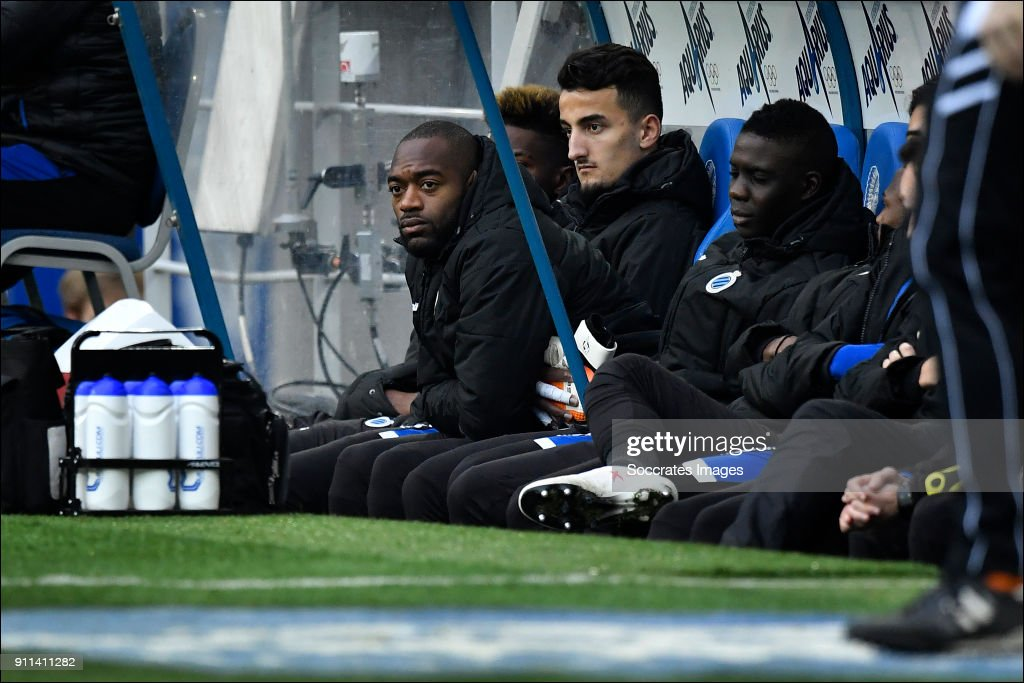 Kenneth Vermeer of Club Brugge on the bench during the Belgium Pro League match between Gent v Club Brugge at the Ghelamco Arena on January 28, 2018 in Gent Belgium