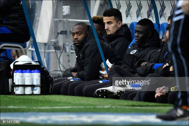 Kenneth Vermeer of Club Brugge on the bench during the Belgium Pro League match between Gent v Club Brugge at the Ghelamco Arena on January 28 2018...