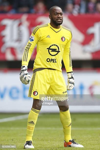 Kenneth Vermeer of Feyenoord during the Dutch Eredivisie match between FC Twente and Feyenoord at the Grolsch Veste on april 10 2016 in Enschede the...