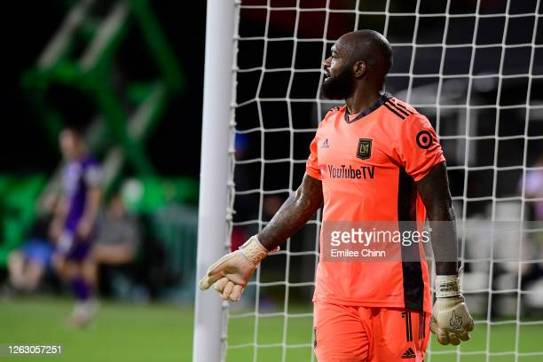 Kenneth Vermeer of Los Angeles FC looks on during a quarter final match of MLS Is Back Tournament between Orlando City and Los Angeles FC at ESPN...