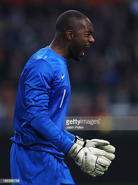 Kenneth Vermeer of Netherlands reacts during the International Friendly match between Netherlands and Germany at Amsterdam Arena on November 14 2012...
