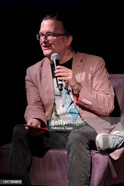 Kenneth Womack speaks onstage at All Things Must Pass Away: Harrison, Clapton, and Other Assorted Love Songs at The GRAMMY Museum on October 18, 2021...
