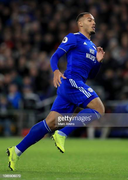 Kenneth Zohore of Cardiff City during the Premier League match between Cardiff City and Manchester United at Cardiff City Stadium on December 22 2018...