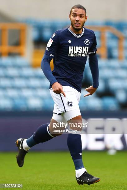 Kenneth Zohore of Millwall FC looks on during the Sky Bet Championship match between Millwall and Sheffield Wednesday at The Den on February 06, 2021...