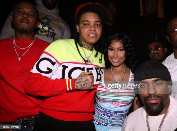 """Kenneth """"Zoo"""" Petty Young MA Nicki Minaj and DJ Clue attend Church On Sundays Hosted By Nicki Minaj And Phil The Mayor And DJ Clues Birthday Party at..."""