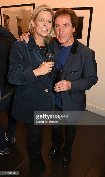Kenney Jones and Jayne Andrew attend a private view of Bill Wyman's photographic exhibition 'Around The World In 80 Years' marking his 80th birthday...