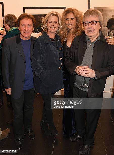 Kenney Jones Jayne Andrew Suzanne Wyman and Bill Wyman attend a private view of Bill Wyman's photographic exhibition 'Around The World In 80 Years'...