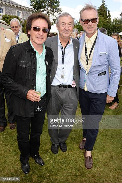 Kenney Jones Nick Mason and Gary Kemp attend the Cartier Style Luxury Lunch at the Goodwood Festival of Speed on June 29 2014 in Chichester England