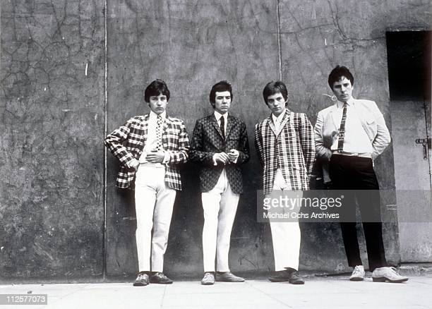 """Kenney Jones, Ronnie Lane, Steve Marriott and Jimmy Winston of the rock and roll band """"Small Faces"""" pose for a portrait in 1965."""