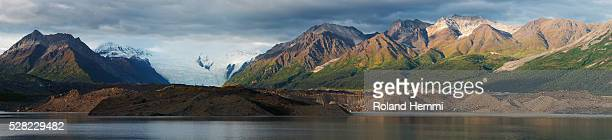 Kennicot with the Kennicot and Root Glacier; Kennicot, Alaska, United States of America