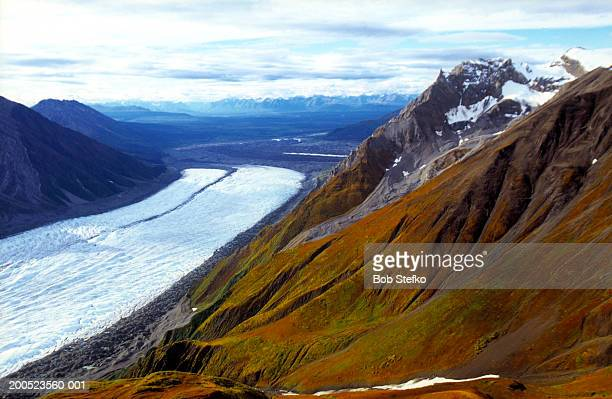 Kennicott and Root Glaciers and the Wrangell Mountains