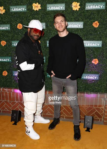 Kennis Marquis and Graham Breitenstein at Debbie Reynolds Legacy Studios Grand Opening at Debbie Reynolds Legacy Studios on February 10 2018 in North...