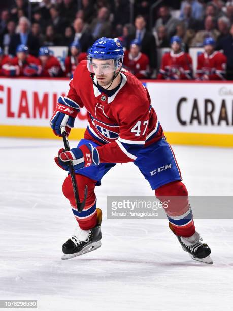 Kenny Agostino of the Montreal Canadiens skates against the Ottawa Senators during the NHL game at the Bell Centre on December 4 2018 in Montreal...