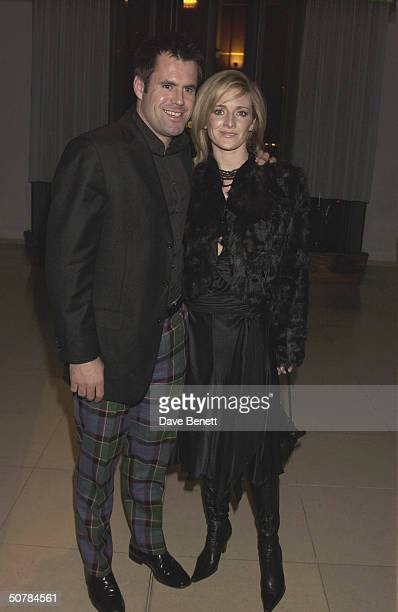 Kenny and Gabby Logan attend the charity 'Burns Night' event in aid of Sargents Cancer Care and the Rachel House Childrens Hospice held at the...