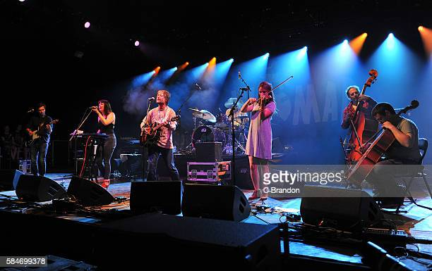 Kenny Anderson aka King Creosote performs on stage during Day 3 of the Womad Festival at Charlton Park on July 30 2016 in Wiltshire England