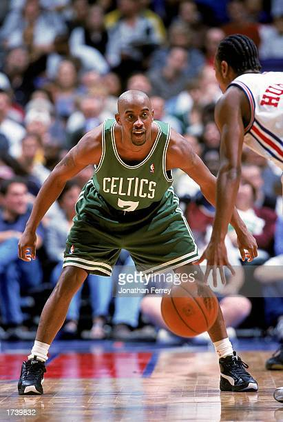 Kenny Anderson of the Boston Celtics guards his player during the game against the Los Angeles Clippers at the Staples Center on December 26 1999 in...