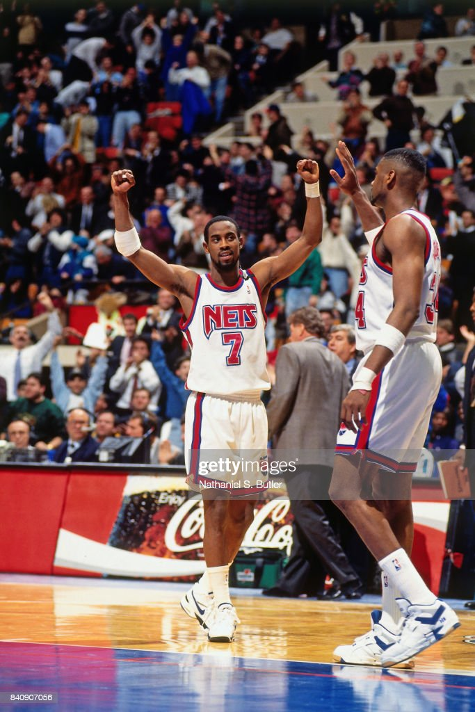 27d73c381d0d Kenny Anderson of the New Jersey Nets celebrates circa 1994 at the ...