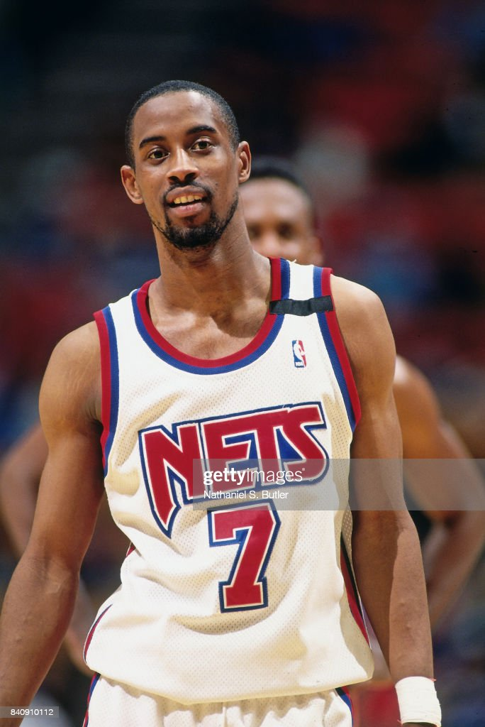 8fa9fbb2b8b3 Kenny Anderson of the New Jersey Nets looks on circa 1994 at the ...