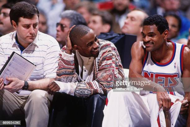 Kenny Anderson of the New Jersey Nets sits on the bench during a game  played circa f9040f57c