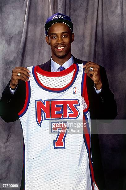 Kenny Anderson poses for a portrait after he was selected number two overall by the New Jersey Nets during the 1991 NBA Draft on June 26 1991 at...