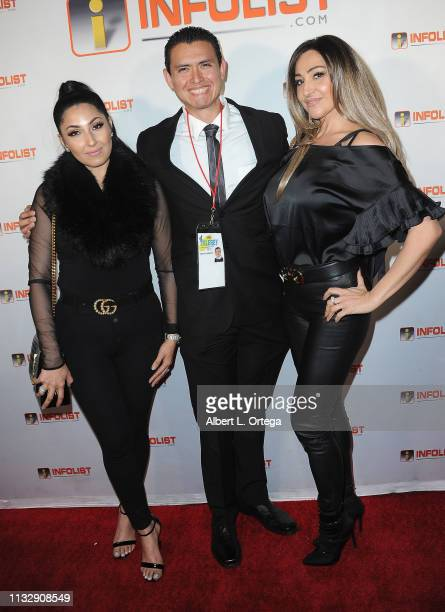 Kenny Arroyo with guests arrive for PreOscar Soiree Hosted By INFOListcom and Birthday Celebration for Founder Jeff Gund held at SkyBar at the...
