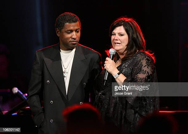 Kenny Babyface Edmonds and Ann Lopez during George Lopez Hosts National Kidney Foundation Gala Show in Los Angeles California United States