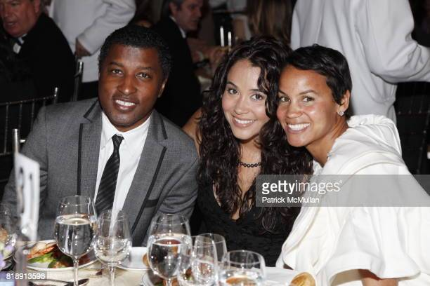 Kenny 'Babyface' Edmonds and Erica Reid attend ARTrageous Gala Dinner and Art Auction at Cipriani Wall Street on May 24 2010 in New York City