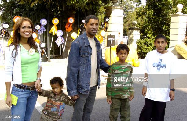 Kenny Babyface Edmonds and Family during Camp Ronald McDonald For Good Times 12th Annual Halloween Carnival at Universal Studios Lot in Universal...