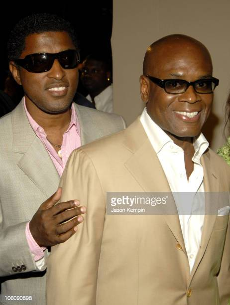 Kenny 'Babyface' Edmonds and LA Reid during LAReid's 50th Birthday Party Arrivals June 10 2006 at Nobu Midtown in New York City New York United States
