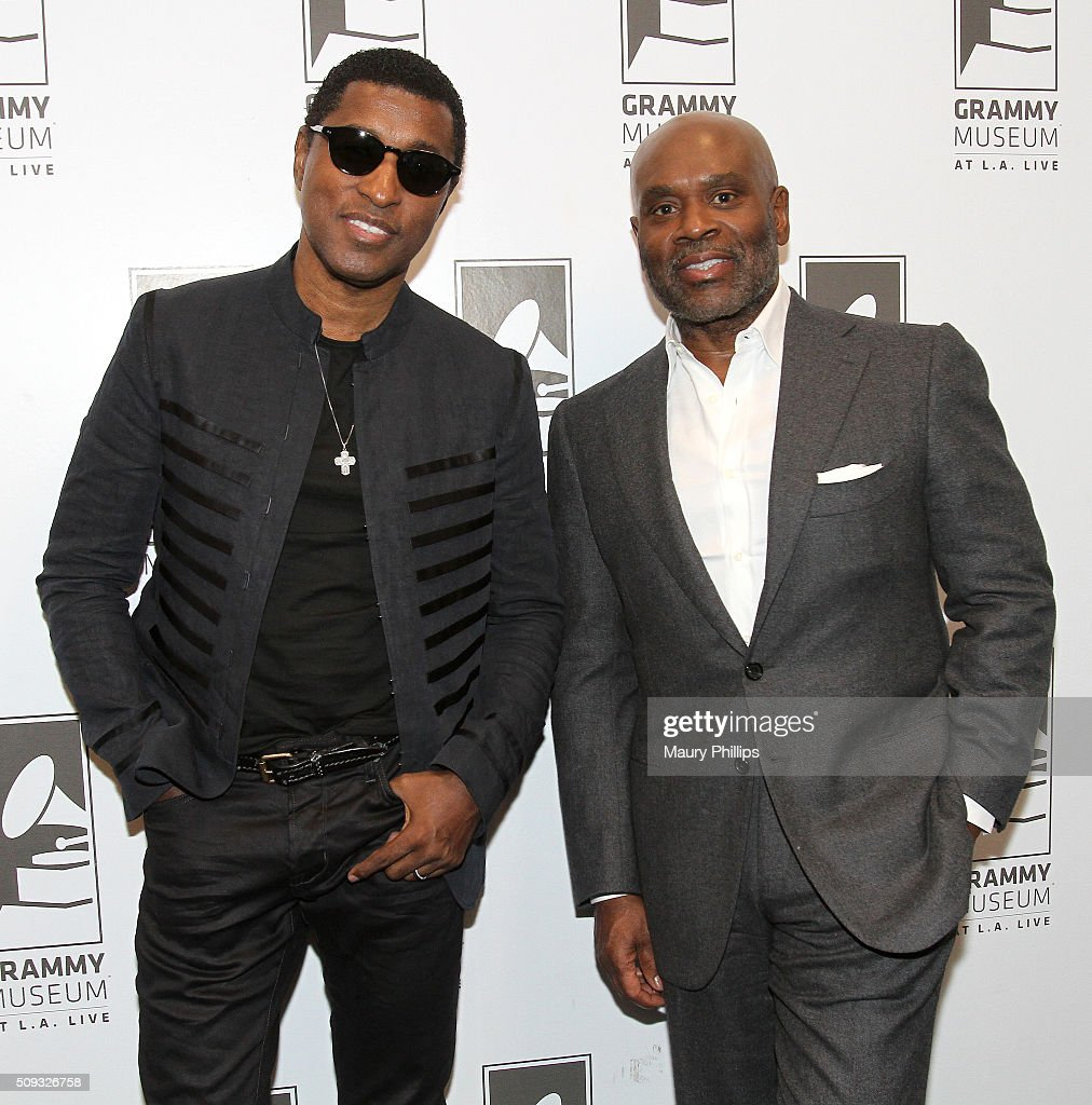 Kenny 'Babyface' Edmonds and L.A.Reid attend Icons of the Music Industry: L.A. Reid at The GRAMMY Museum on February 9, 2016 in Los Angeles, California.