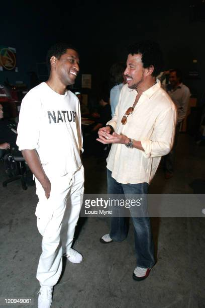 "Kenny ""Babyface"" Edmonds and Lionel Richie during The United Negro College Fund Hosts An Evening of Stars Tribute to Quincy Jones - Rehearsals in..."