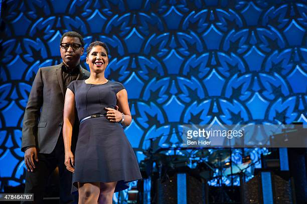 Kenny 'Babyface' Edmonds and Toni Braxton attends the new cast announcement for 'After Midnight' at Brooks Atkinson Theatre on March 13 2014 in New...