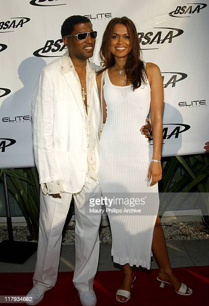 Kenny 'Babyface' Edmonds and wife Tracey Edmonds during Black Sports Agents Association Sports and Music Weekend 2003 at Viceroy Hotel in Santa...