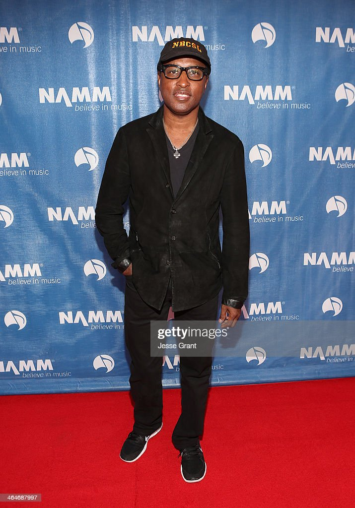 Kenny 'Babyface' Edmonds attends the 2014 National Association of Music Merchants show media preview day at the Anaheim Convention Center on January 23, 2014 in Anaheim, California.