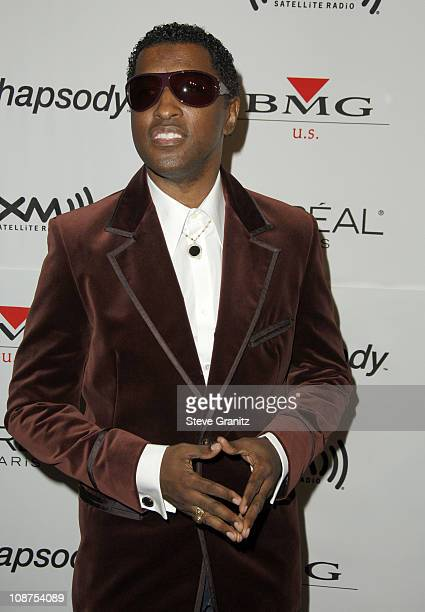 Kenny Babyface Edmonds during 2006 Clive Davis PreGRAMMY Awards Party Arrivals at Beverly Hilton in Beverly Hills California United States