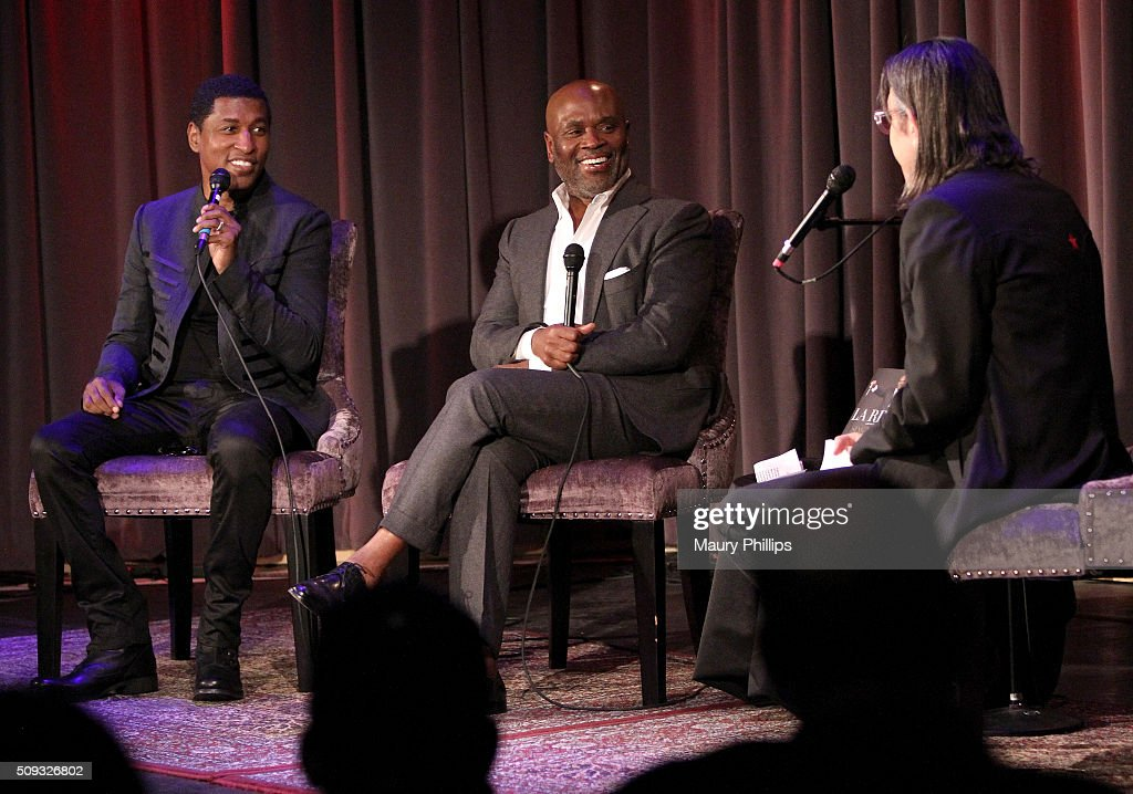 Kenny 'Babyface' Edmonds, L.A. Reid and GRAMMY Foundation Vice President Scott Goldman speak onstage during Icons of the Music Industry: L.A. Reid at The GRAMMY Museum on February 9, 2016 in Los Angeles, California.