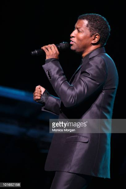Kenny 'Babyface' Edmonds perform at Chene Park on June 5 2010 in Detroit Michigan