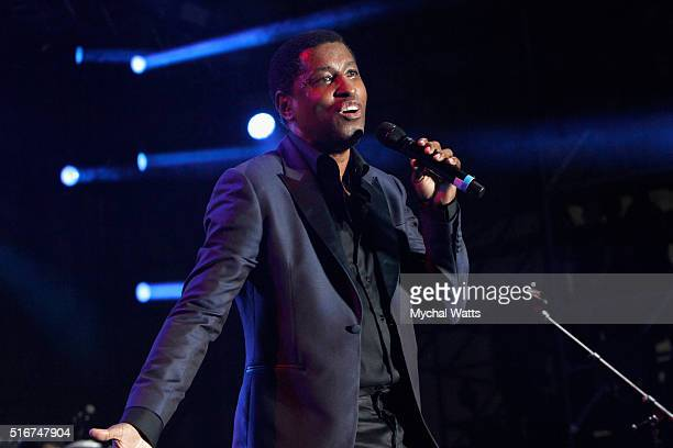 Kenny Babyface Edmonds performs onstage at 11th Annual Jazz In The Gardens Music Festival Day 2 at Sunlife Stadium on March 20 2016 in Miami Florida