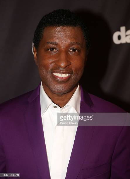 Kenny Babyface Edmonds poses as Season 23 of Dancing With The Stars meets the press at Planet Hollywood Times Square on September 7 2016 in New York...