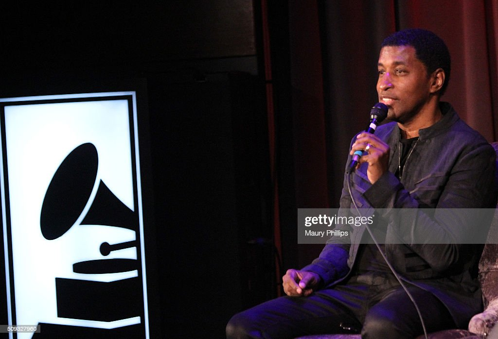 Kenny 'Babyface' Edmonds speaks onstage during Icons of the Music Industry: L.A. Reid at The GRAMMY Museum on February 9, 2016 in Los Angeles, California.
