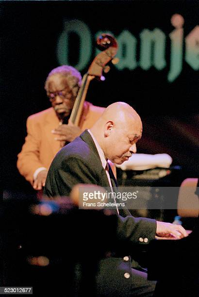 Kenny Barron, piano, performs with Keter Betts (on bass on July 11th 1998 at the North Sea Jazz Festival in the Hague, the Netherlands.