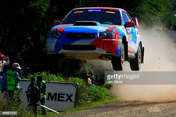 Kenny Bartram and Dennis Hotson of United States in action during the third and last day of the Rally of Nations Mexico 2009 on July 12 2009 in Leon...