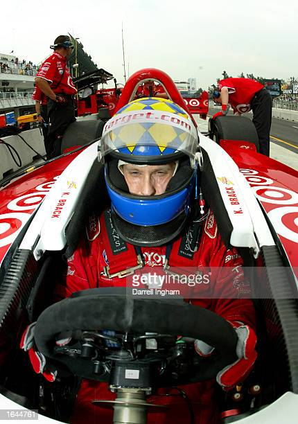 Kenny Brack aboard the Target Ganassi Racing Toyota Lola during practice for the Gran Premio GiganteTelmex round 19 of the CART Fed Ex Championship...