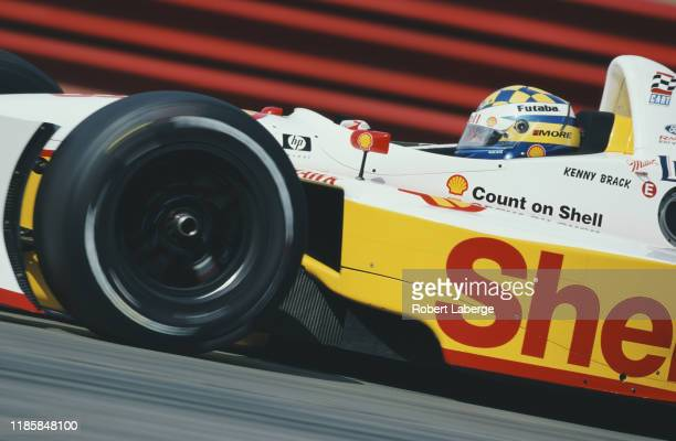 Kenny Brack of Sweden drives the Team Rahal Shell Lola B1/00 Ford Cosworth Ford XF V8t during practice for the Championship Auto Racing Teams 2002...