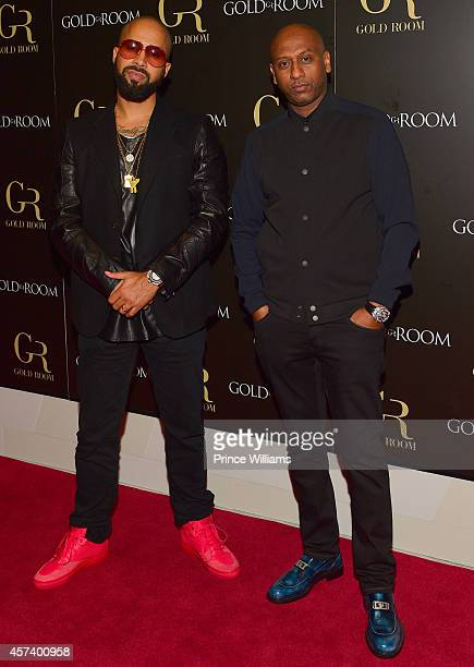 Kenny Burns and Alex Gidewon attend the Gold Room on October 6 2014 in Atlanta Georgia